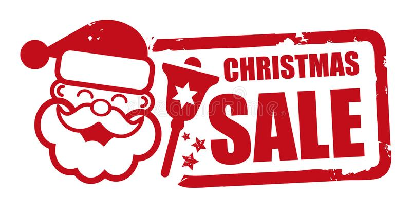 Projeto vermelho da venda do Natal do selo ilustração stock