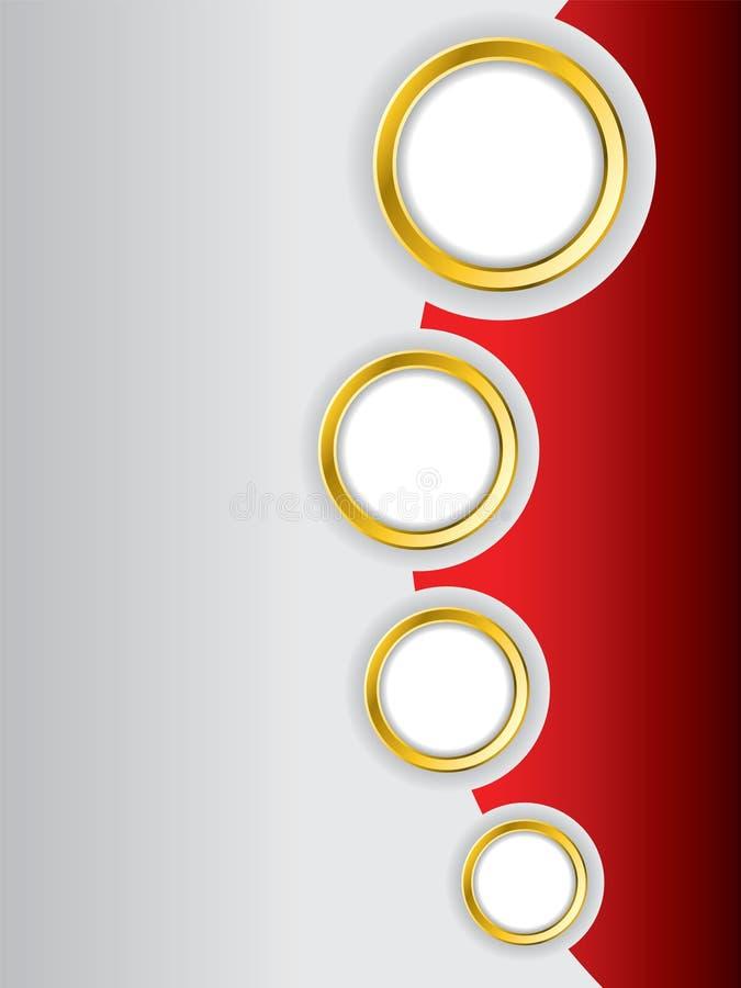 Projeto vermelho do folheto ilustração royalty free