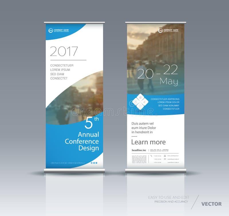 Projeto vertical do molde da bandeira ilustração do vetor
