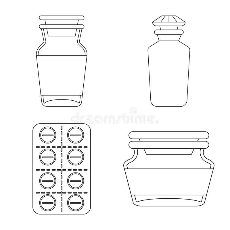 Projeto vetorial da farmácia e do logótipo farmacêutico Símbolo de farmácia e estoque de saúde para web ilustração stock