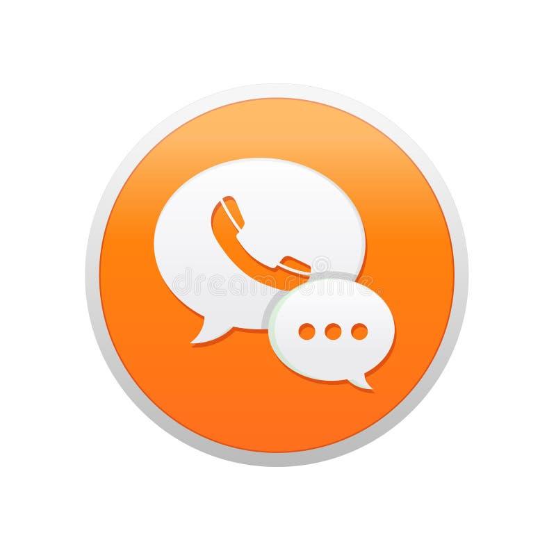 Projeto video do ícone da chamada e do bate-papo ilustração stock