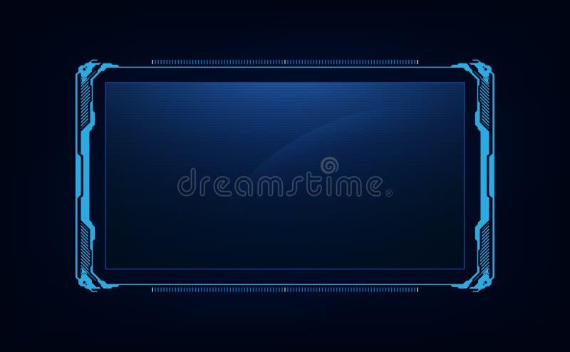 Projeto virtual do sistema futurista futuro abstrato da tela do GUI do ui do hud ilustração royalty free