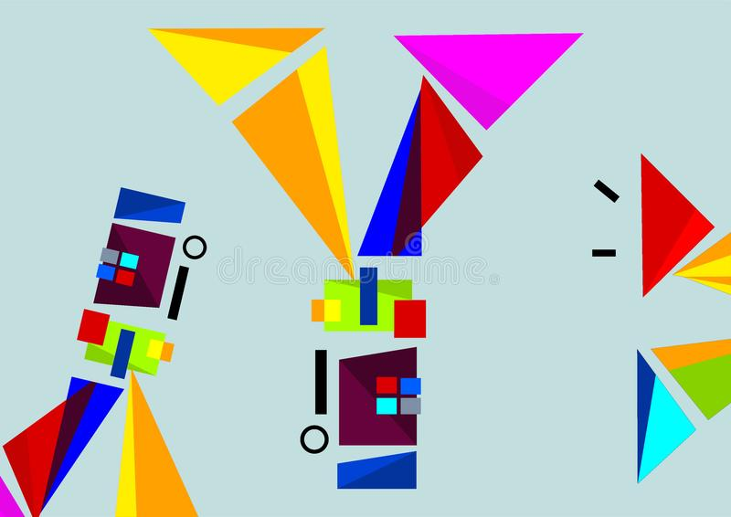 Projeto visual da tecnologia e das formas ilustração do vetor