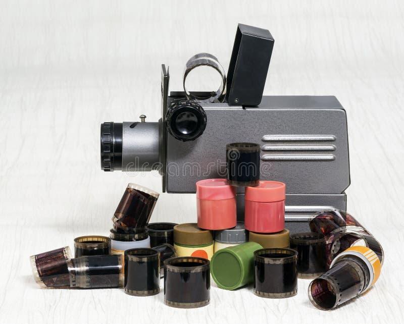 Projetor de corrediça velho película foto de stock