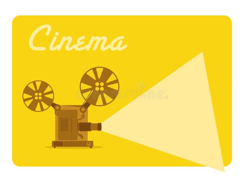 Projetor de filme ilustração stock