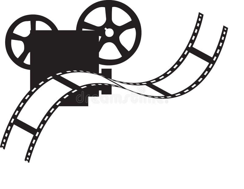 Projetor de filme ilustração royalty free