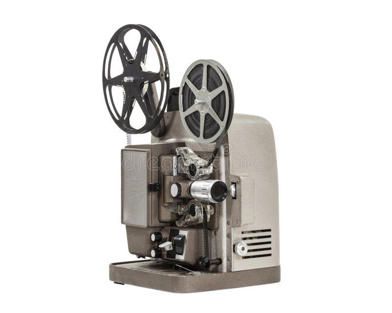 Projetor de filme caseiro do vintage foto de stock