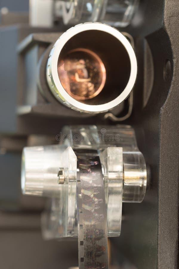 Projetor de filme Front Carriage Lens do filme do vintage 8mm fotos de stock