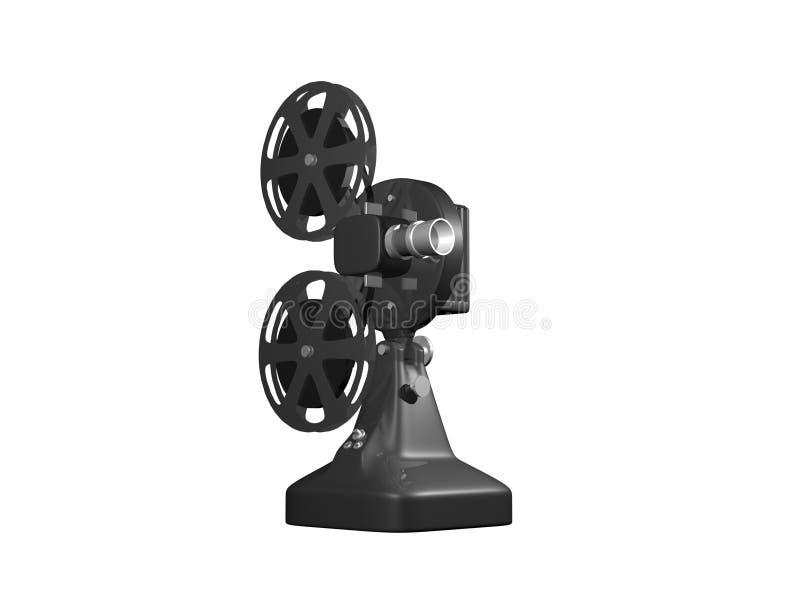 Projetor de película cinzento ilustração do vetor