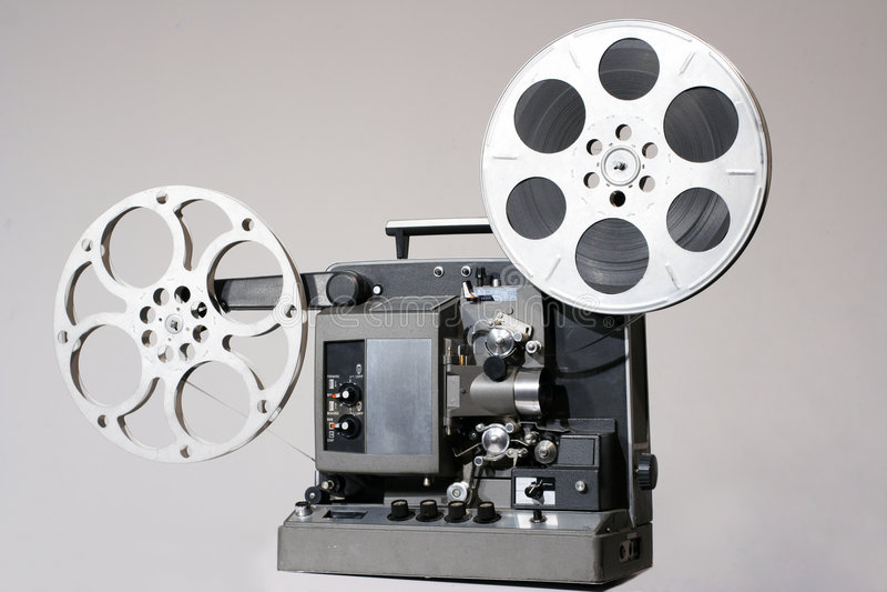 Projetor de película retro de 16mm imagens de stock