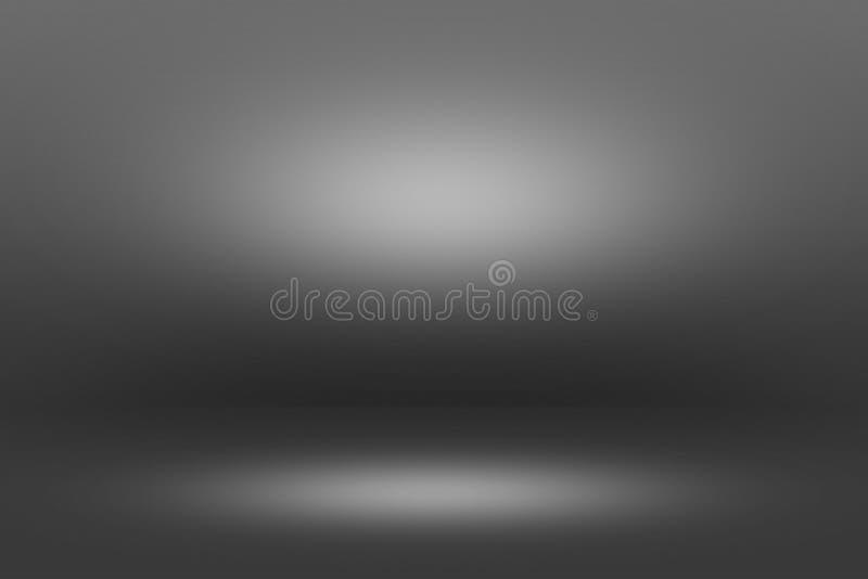Projetor de Showscase do produto no fundo preto - assoalho claro da obscuridade do horizonte infinito imagem de stock royalty free