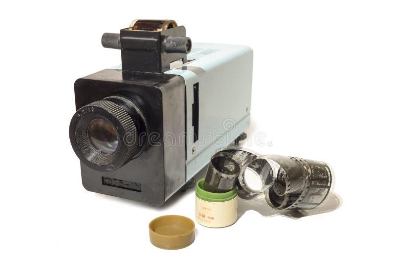 Projetor de slides velho com filme fotos de stock royalty free