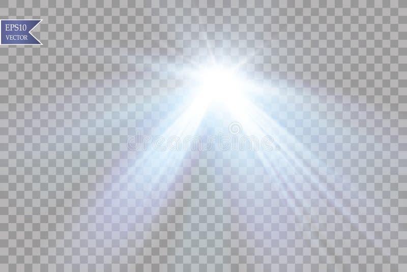 Projetor do vetor Efeito da luz ilustração stock