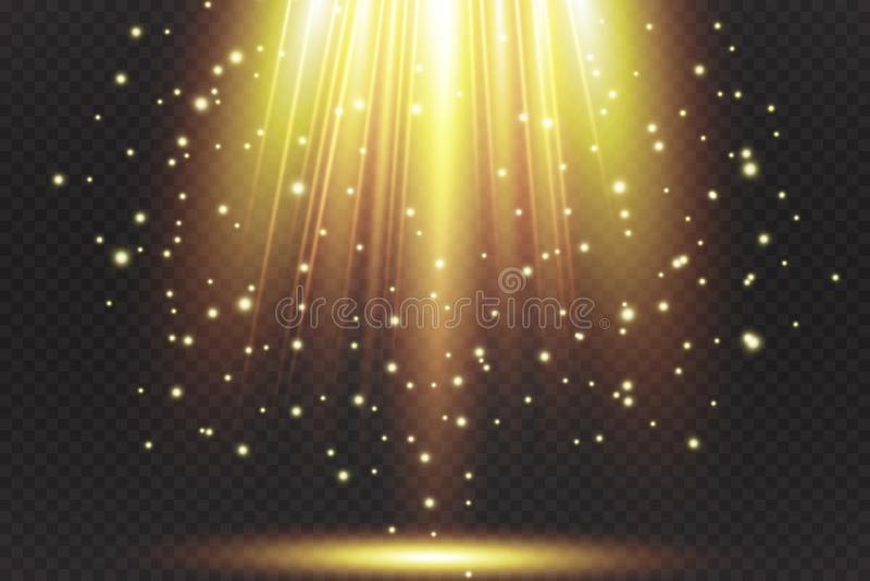 Projetor do vetor Efeito da luz ilustração royalty free