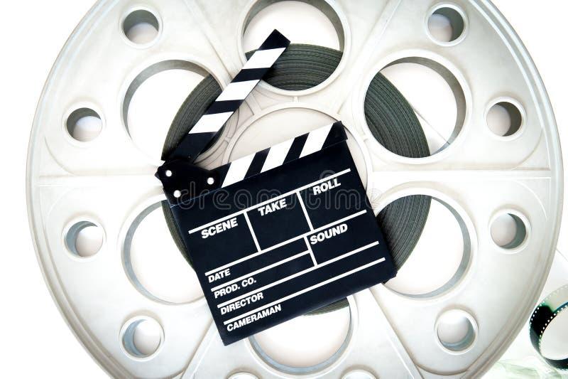 Projetor grande velho original do cinema do carretel 35mm do filme com válvula imagens de stock
