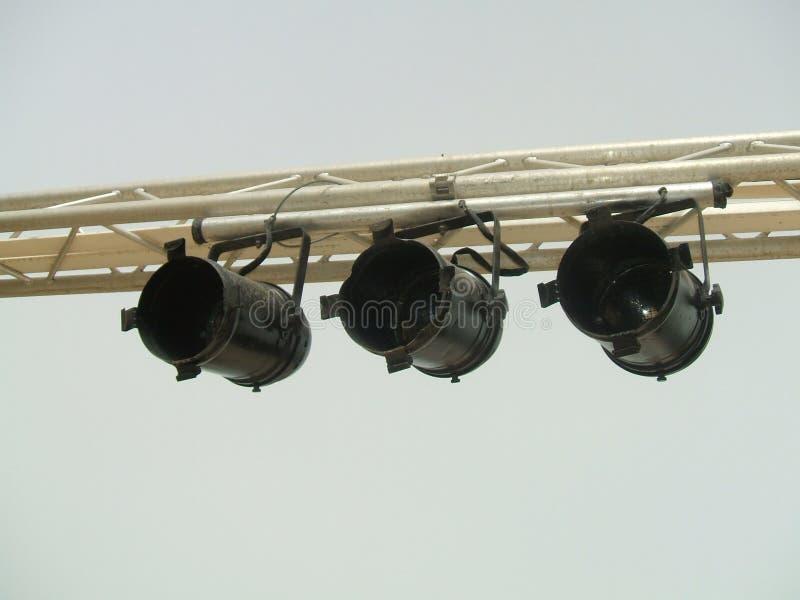 Projetores da fase Encene luzes luzes spotlights fotos de stock
