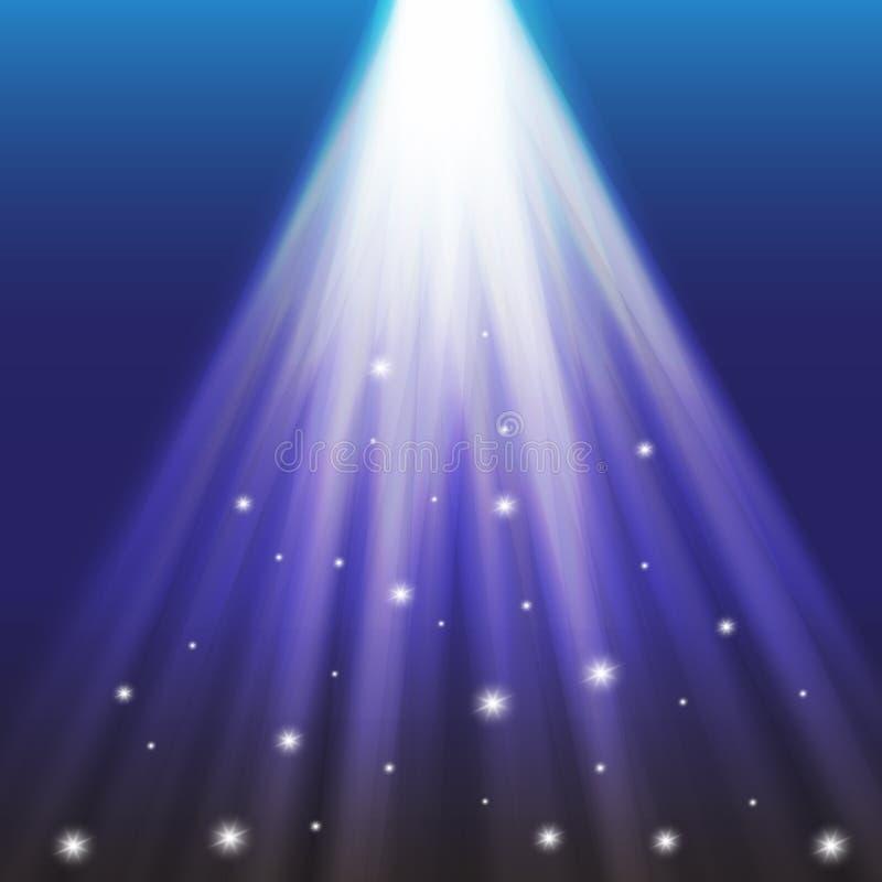 Projetores do vetor cena Efeitos da luz ilustração do vetor