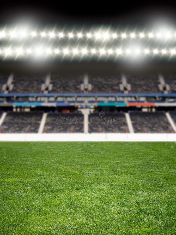 Projetores na arena do futebol foto de stock