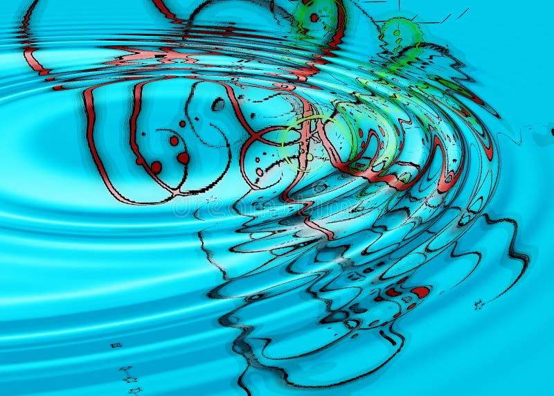 Projetos abstratos aquosos do azul ilustração royalty free