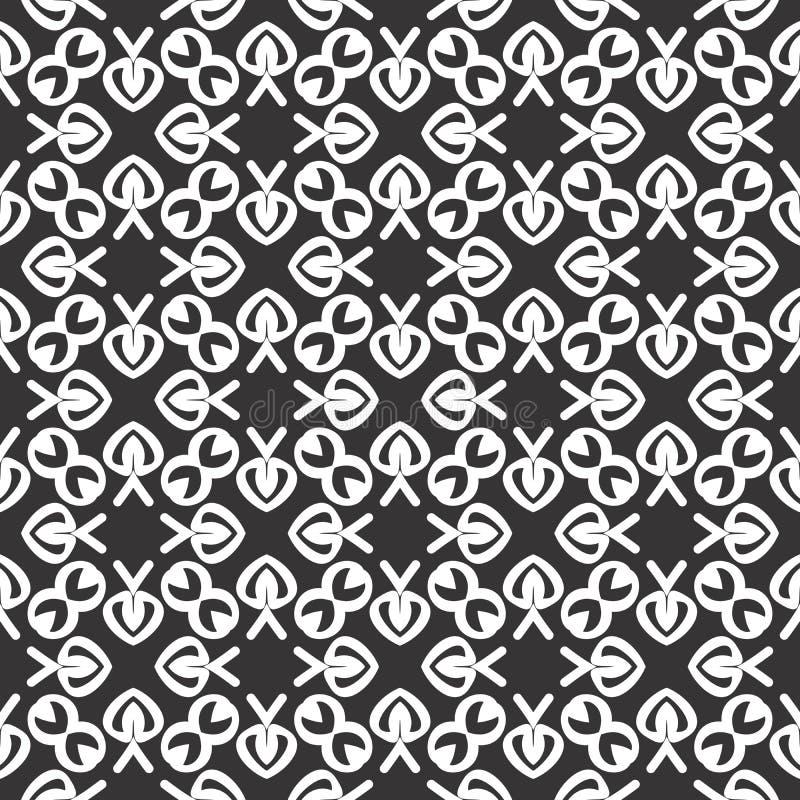 Projetos brancos pretos da repetição do vetor ilustração stock