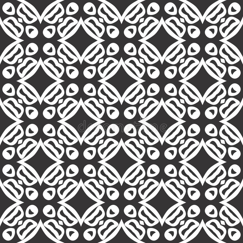 Projetos brancos pretos da repetição do vetor ilustração royalty free