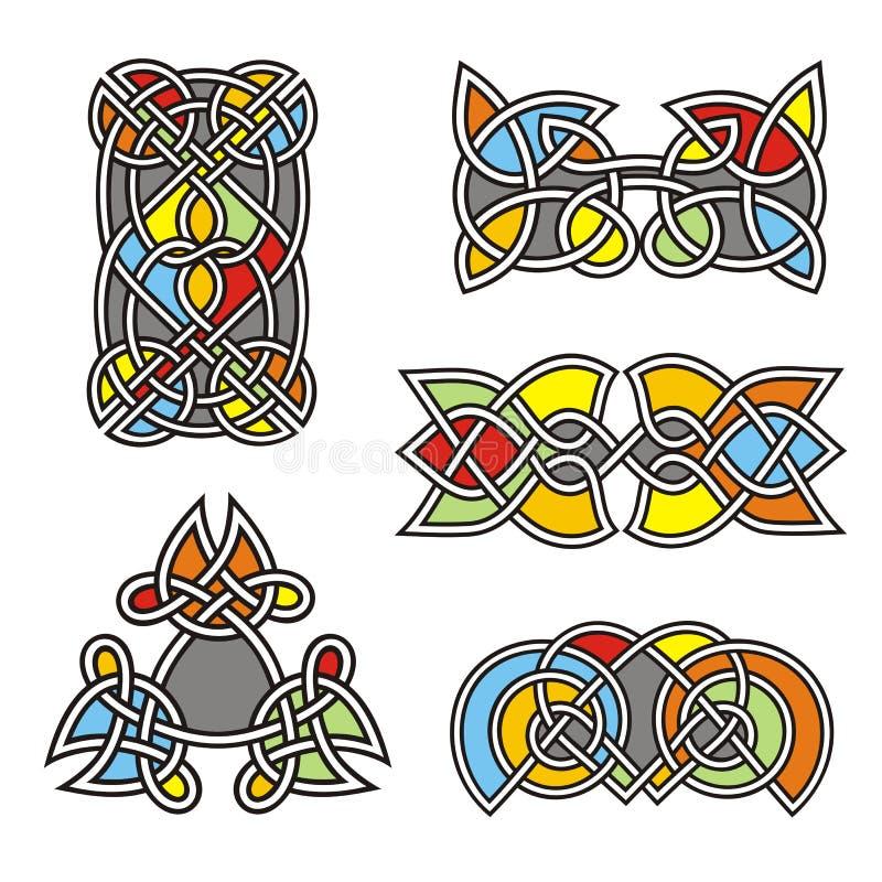 Projetos celtas do ornamental ilustração royalty free