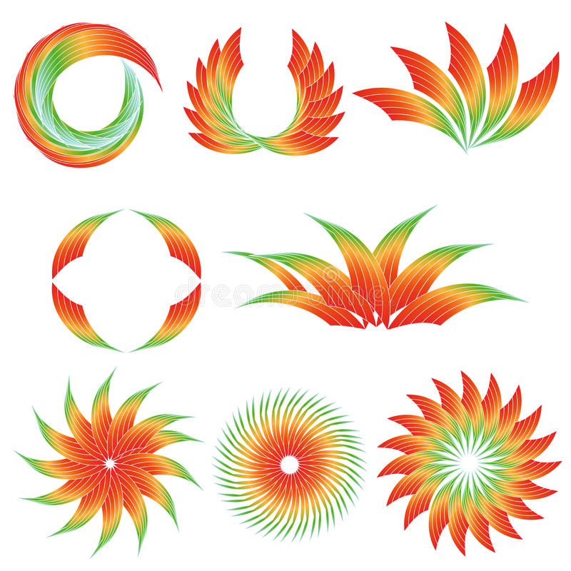 Projetos coloridos do inclinação ilustração do vetor