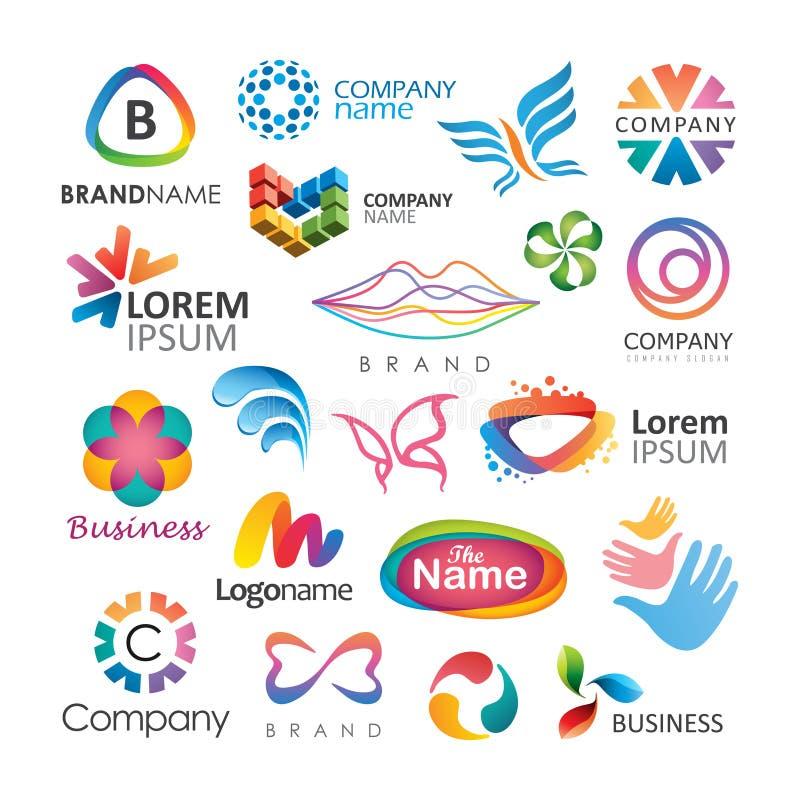 Projetos coloridos do logotipo ilustração do vetor