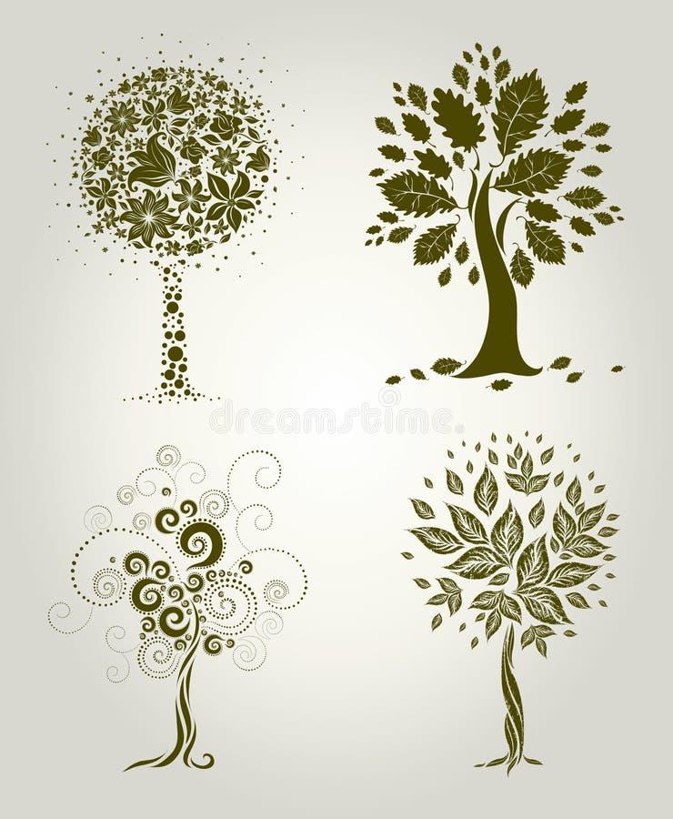 Projetos com a árvore decorativa das folhas