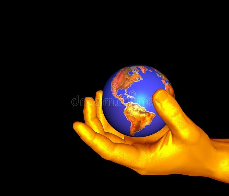 Guardarando o globo ilustração royalty free