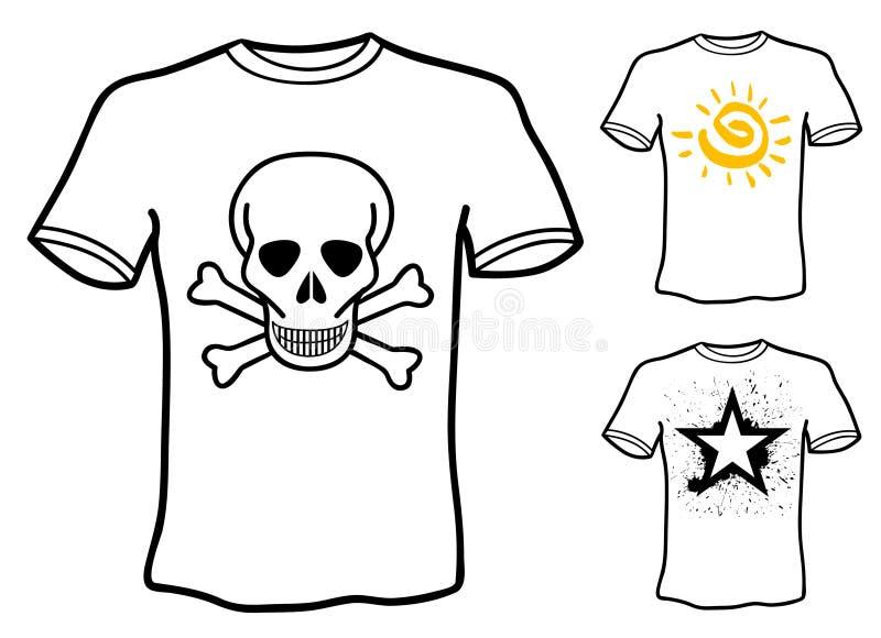 Projetos da camisa de T ilustração do vetor