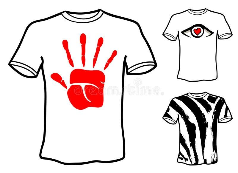 Projetos da camisa de T ilustração stock