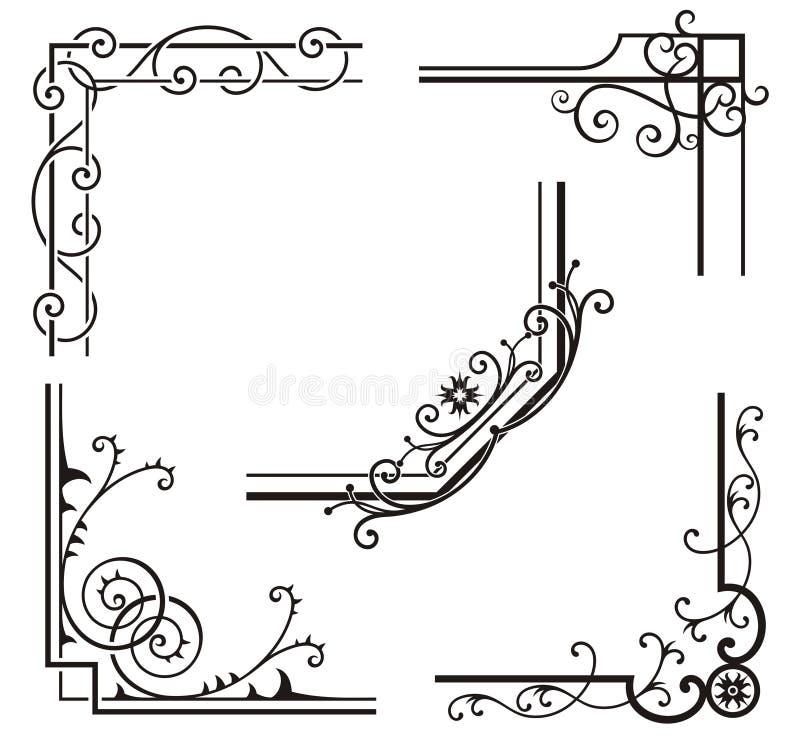 Projetos de canto requintados do Ornamental ilustração stock