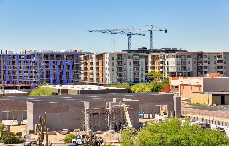 Projetos de construção múltiplos, vista aérea imagens de stock royalty free