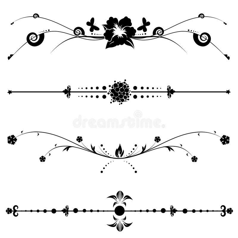 Projetos Decorativos Do Vintage Imagem de Stock Royalty Free