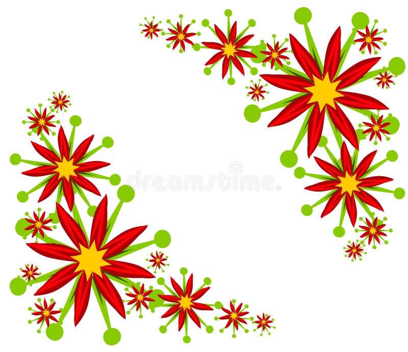 Projetos do canto do Poinsettia ilustração stock