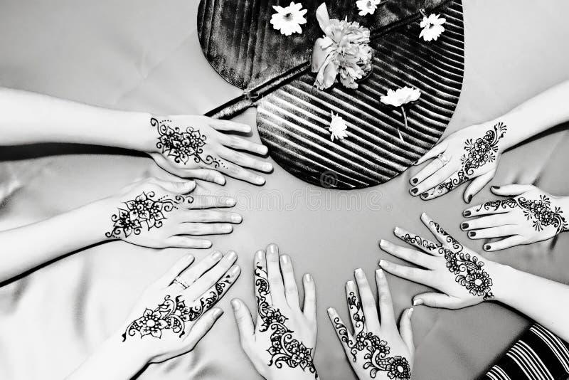 Projetos do Henna imagens de stock