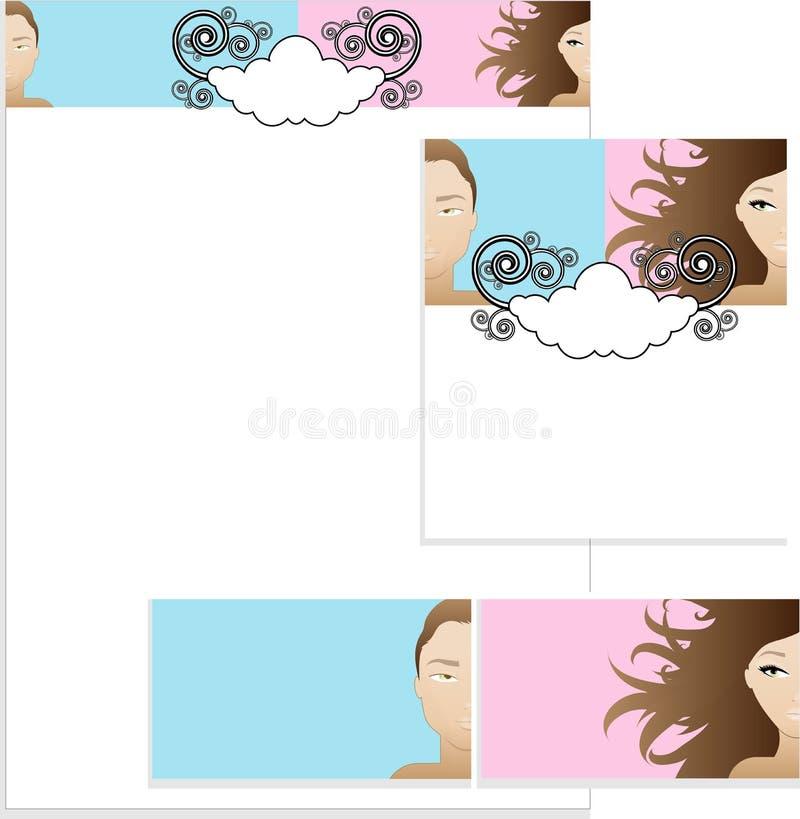 Projetos do molde ilustração stock