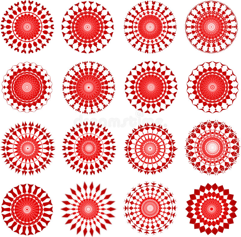 Projetos do vermelho ilustração stock