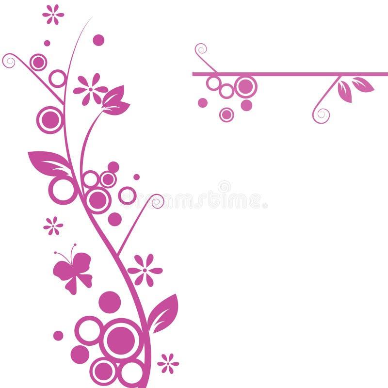 Projetos florais ilustração do vetor