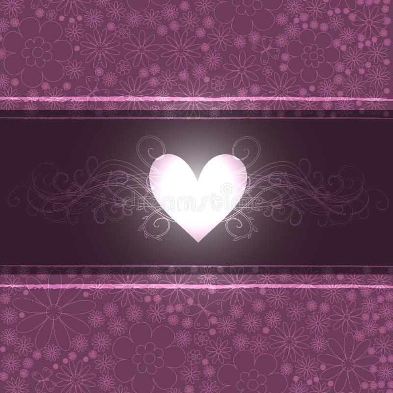 Projetos florais e coração ilustração royalty free