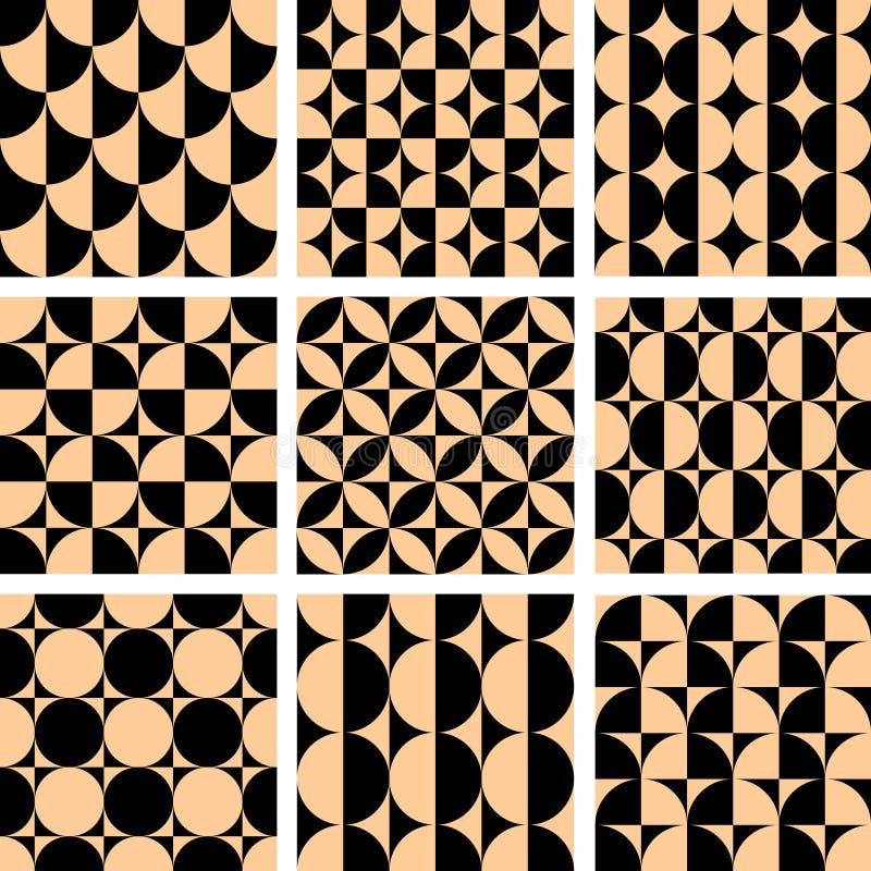 Projetos geométricos sem emenda da arte op. ilustração royalty free