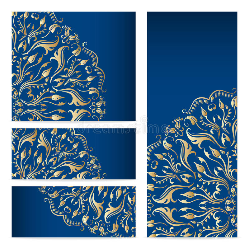 Projetos gráficos do teste padrão floral dos moldes do vetor. ilustração do vetor