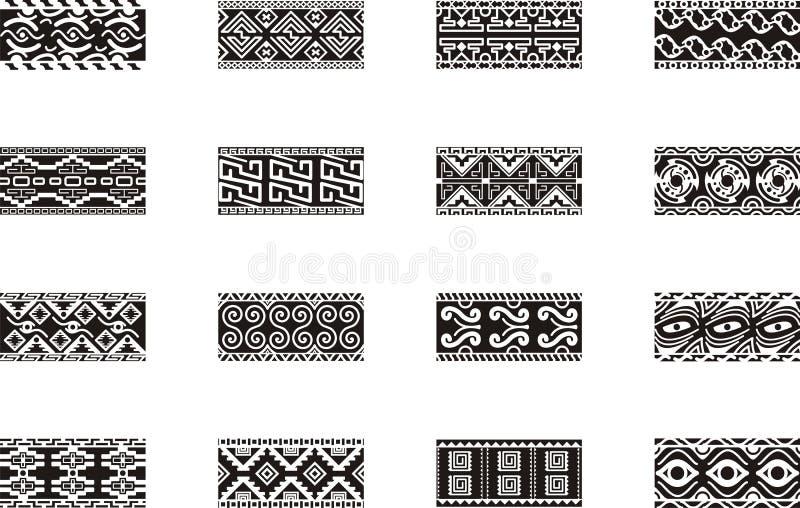 Projetos mexicanos do ornamental ilustração stock