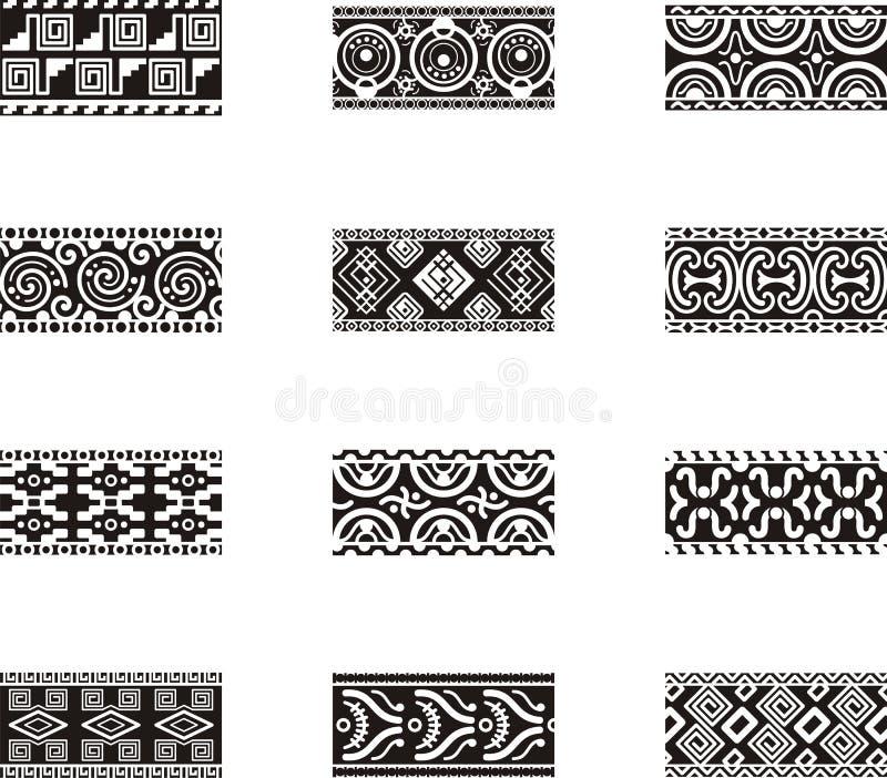 Projetos mexicanos do ornamental ilustração do vetor