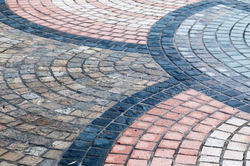Projetos no elemento do pavimento a usar-se como o círculo ou a textura do backg foto de stock