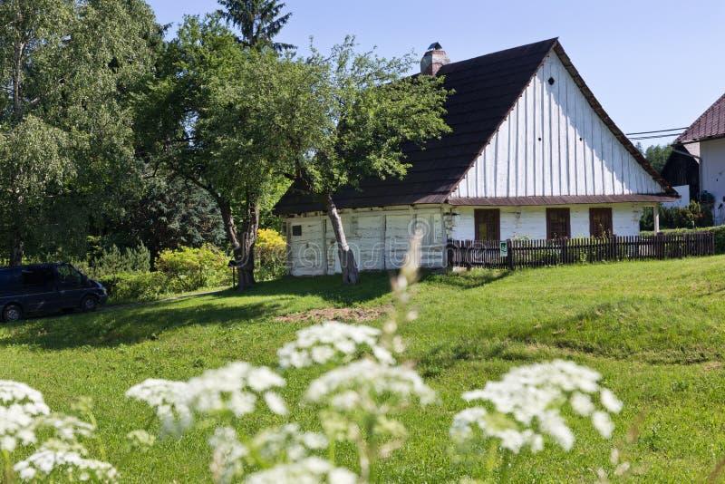 Prokop Divis inventore di casa nativa di un parafulmine, Zamberk town, East Bohemia, Repubblica ceca fotografia stock