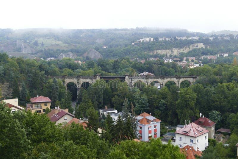 prokopske udoli美好的landscale在布拉格 库存图片