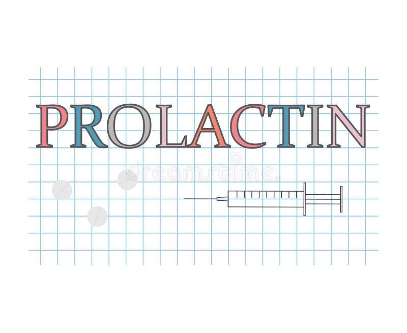 Prolactinord på det rutiga pappers- arket royaltyfri illustrationer