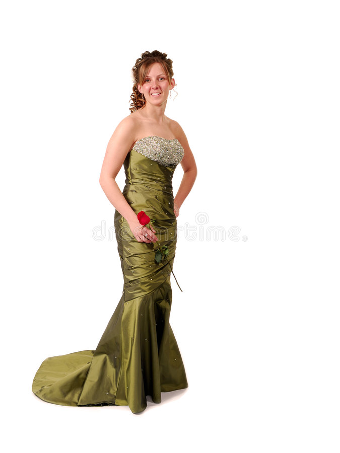 Prom Dress. Pretty Teen in Prom Dress stock photography